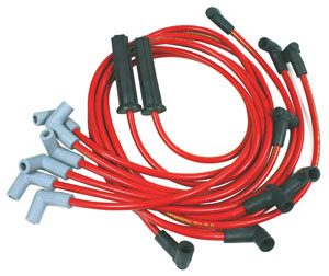1978-1988 Monte Carlo Spark Plug Wire, 8.2 mm Thundervolt (Custom Fit) V6 Red, by Taylor