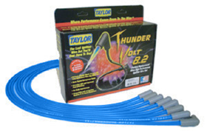 1964-1977 Chevelle Spark Plug Wire Sets, 8.2 mm Thundervolt Custom-Fit Small-Block w/o HEI – Blue, by Taylor