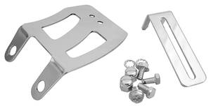 1978-88 Malibu Throttle Cable Bracket Set, Chromed Small Block