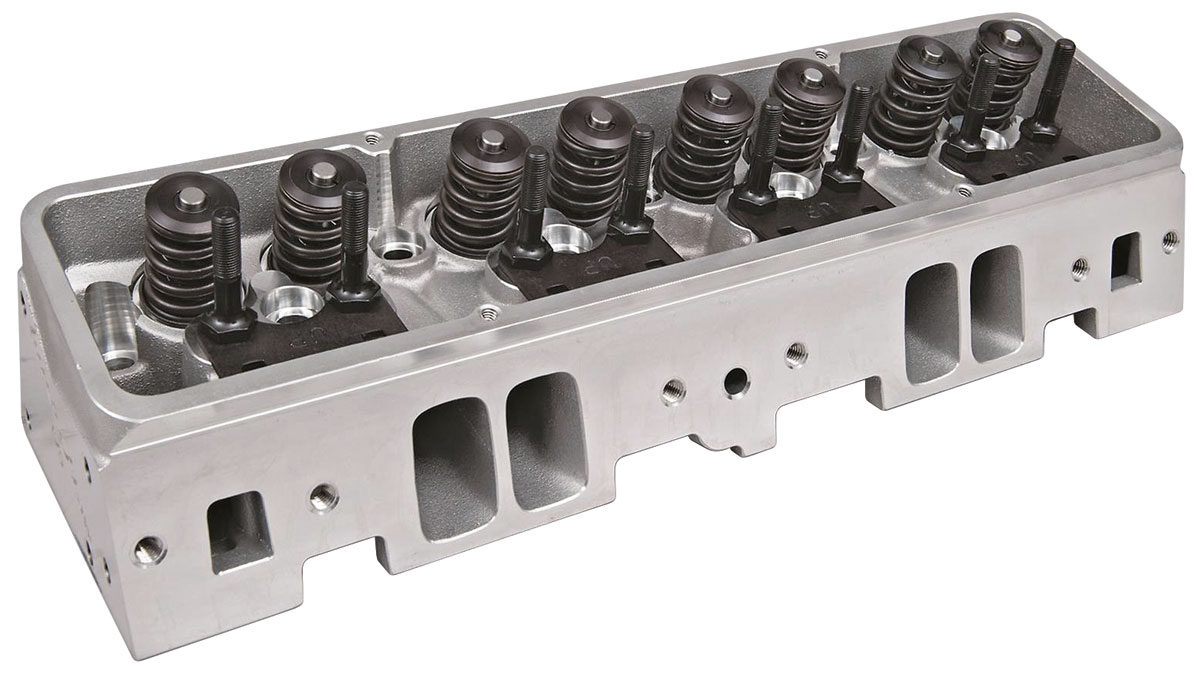 "Photo of Cylinder Heads, Super 23 Sb (3/8"" Rocker Studs) 175CC, Alum., Std. Chamber, Hyd. Flt"