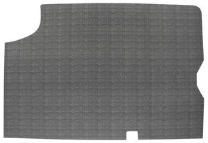 1964-1965 Chevelle Trunk Mat, Rubber Crosshatch (Black/Gray)