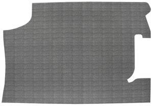 1966 Chevelle Trunk Mat, Rubber Crosshatch (Black/Gray)