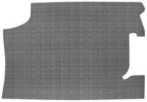 1966 Chevelle Trunk Mat, Rubber Crosshatch (Black/Gray)