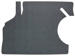 1968-1969 Chevelle Trunk Mat, Rubber Herringbone (Black/Aqua)