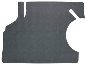 1968-1969 Chevelle Trunk Mat, Rubber Herringbone (Black/Gray)