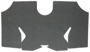1973-1977 Chevelle Trunk Mat, Rubber Herringbone (Black/Aqua)
