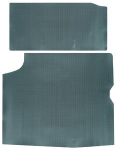 1964-65 Cutlass Trunk Mat, Rubber Aqua & Black