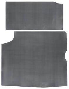 1964-65 Cutlass Trunk Mat, Rubber Gray & Black