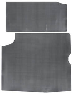 1964-65 Skylark Trunk Mat, Rubber Gray & Black