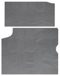 1964-65 Skylark Trunk Mat, Vinyl Gray & Black