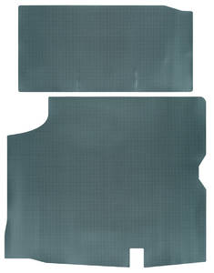 1966-1967 Cutlass Trunk Mat, Rubber Aqua & Black