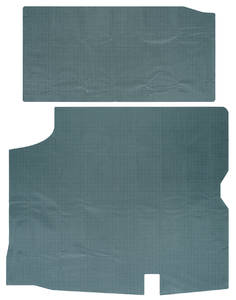 1972 Trunk Mat Kit, Bonneville All Exc. Convertible (Green/Gray Felt)