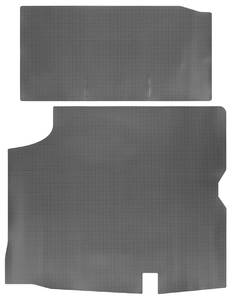 1966-1967 Cutlass Trunk Mat, Rubber Gray & Black