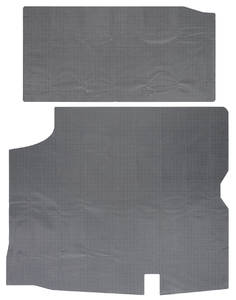 1966-67 Cutlass/442 Trunk Mat, Vinyl Gray & Black