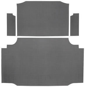 1959-1959 Bonneville Trunk Mat Kit, Bonneville Convertible (Gray Houndstooth)