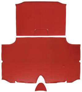 1960-1960 Bonneville Trunk Mat Kit, Bonneville Convertible (Red Houndstooth)