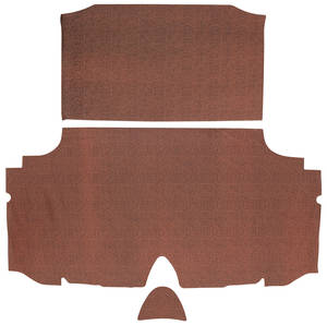 1960-1960 Bonneville Trunk Mat Kit, Bonneville Hardtop 4-dr. (Red Houndstooth)