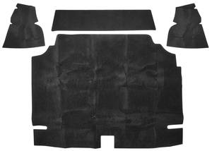 1969 Trunk Mat Kit, Bonneville Convertible (Black Felt)