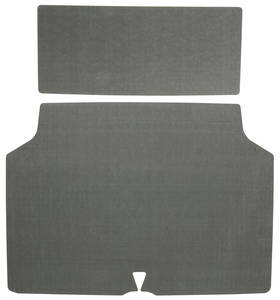 1969 Trunk Mat Kit, Grand Prix (Green/Gray Felt)