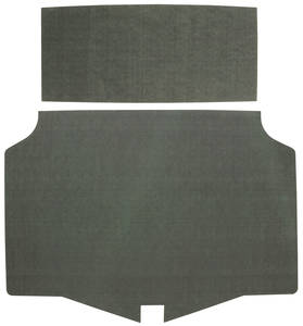 1971-72 Trunk Mat Kit, Grand Prix (Green/Gray Felt)
