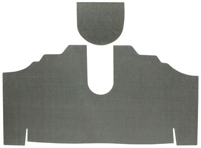 1974 Trunk Mat Kit, Bonneville All (Green/Gray Felt)