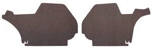 1970-1970 Bonneville Trunk Side Panels, Bonneville Hardtop 4-dr. (Gray/Green Felt)