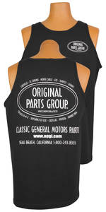 1964-1977 Chevelle Original Parts Group Tank Top Black