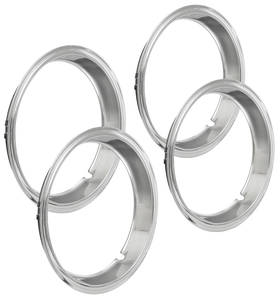 "1965-1968 LeMans Wheel Trim Rings, Reproduction Rally (Chrome) Oem Lip 14"" X 6"" Rally I (2-1/8"" Deep)"