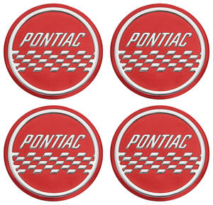 1963-64 Grand Prix Wheel Center Decal (Wire Wheel)