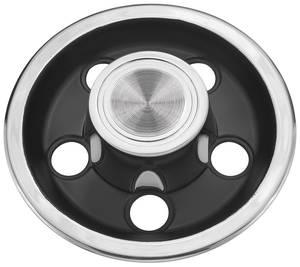 1966-68 GTO Wheel Center Cap, Rally I Black