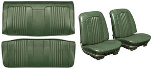 Chevelle Seat Upholstery, 1971-72 Reproduction Vinyl Buckets w/Coupe Rear
