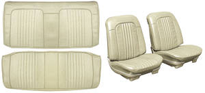 Chevelle Seat Upholstery, 1971-72 Reproduction Vinyl Buckets w/Convertible Rear