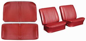 Chevelle Seat Upholstery, 1964 Reproduction Vinyl Buckets w/Convertible Rear