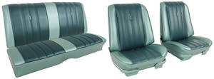 GTO Seat Upholstery, 1966 Beaumont Buckets, w/Coupe Rear, by Distinctive Industries