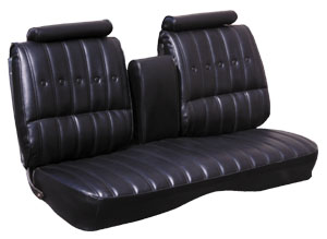 1974-1977 Chevelle Seat Upholstery, 1974-77 Chevelle Bench Vinyl w/Coupe Rear, by PUI