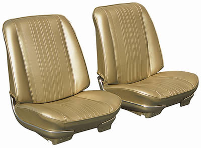 Chevelle Seat Upholstery, 1970 Reproduction Vinyl Solid Bench w/4-dr. Sedan Rear