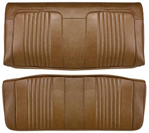 Chevelle Seat Upholstery, 1971-72 Reproduction Vinyl Rear Seat Coupe