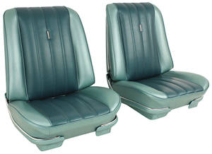 1966-1966 LeMans Seat Upholstery, 1966 Beaumont Buckets, Front, by Distinctive Industries