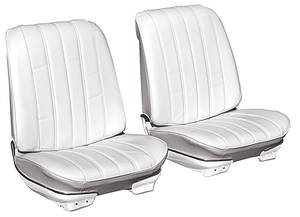 1966-1966 Chevelle Seat Upholstery, 1966 Reproduction Vinyl Buckets w/Convertible Rear, by Distinctive Industries