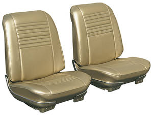 Chevelle Seat Upholstery, 1967 Reproduction Vinyl Buckets w/Coupe Rear, by Distinctive Industries