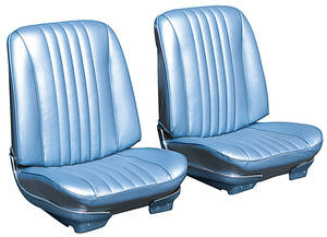 Chevelle Seat Upholstery, 1968 Reproduction Vinyl Buckets w/Coupe Rear, by Distinctive Industries