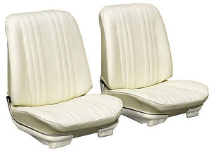 1969-1969 Chevelle Seat Upholstery, 1969 Reproduction Vinyl Buckets w/Convertible Rear, by Distinctive Industries