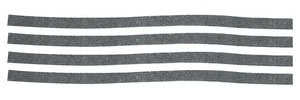 Chevelle Air Outlet Deflector Felt Seals, 1966-67 4-Piece
