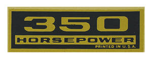 1964-77 El Camino Valve Cover Decal, Horsepower 350 HP