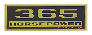 "1970-1977 Monte Carlo Valve Cover Decal ""365 Horsepower"""