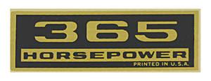 "1970-77 Monte Carlo Valve Cover Decal ""365 Horsepower"""
