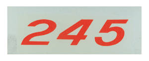 1970-77 Monte Carlo Valve Cover Decal, Horsepower Designation 245 (Orange)