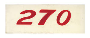 1970-77 Monte Carlo Valve Cover Decal, Horsepower Designation 270 (Orange)