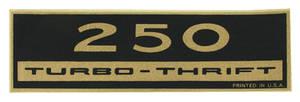 1964-77 El Camino Valve Cover Decal, Turbo-Thrift 250