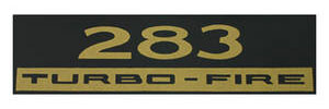 1970-77 Monte Carlo Valve Cover Decal: 283 Turbo-Fire